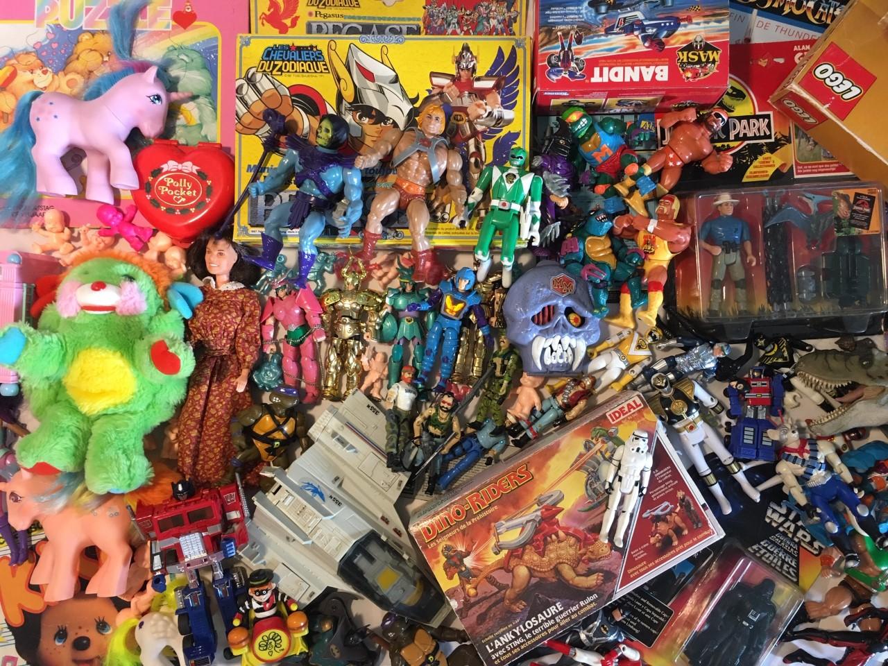 VINTOYS bannière jouets vintages années 80 90 2000